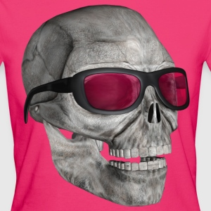 skull with sunglasses - Frauen Bio-T-Shirt