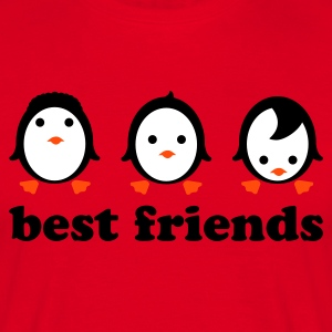 Rød Best friends T-shirts - Herre-T-shirt