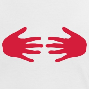 hands boobs T-Shirts - Frauen Kontrast-T-Shirt