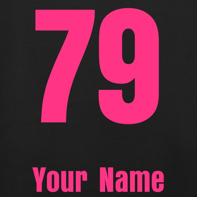Design your own - Change the Number & Add name