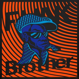 Svart Funk Brother T-shirts - Ekologisk T-shirt herr