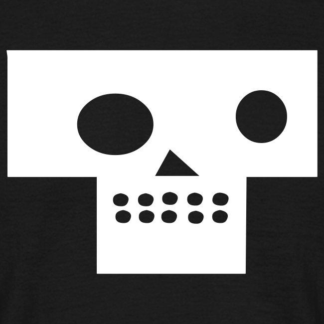 post modern death skull black