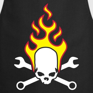 fire_skull_worker_a_3c  Aprons - Cooking Apron