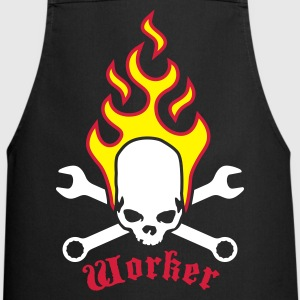 fire_skull_worker_b_3c  Aprons - Cooking Apron
