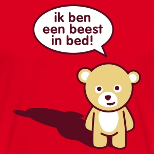 Rood Beest in bed T-shirts - Mannen T-shirt