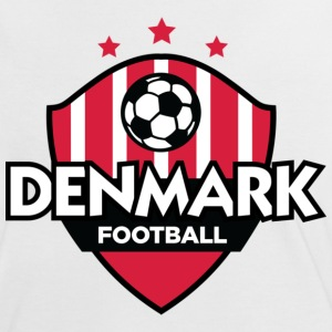 Wit/rood Denmark Football (DD) T-shirts - Vrouwen contrastshirt
