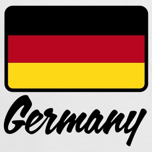 Blanc/rouge Flag Germany (3c) T-shirts - T-shirt contraste Femme