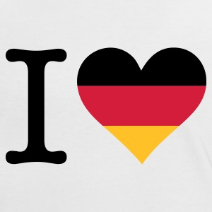Blanc/rouge I Love Germany Original (3c) T-shirts - T-shirt contraste Femme