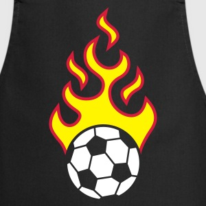 fire_fussball_a_3c_black  Aprons - Cooking Apron
