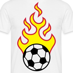 fire_fussball_a_3c T-shirts - Mannen T-shirt