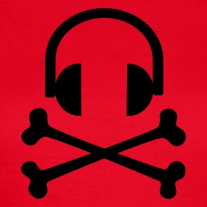 Rot Headphones T-Shirts - Frauen T-Shirt