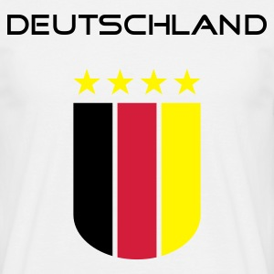 T-Shirt Mann Deutschland Four Stars Wappen © by kally ART® - Männer T-Shirt