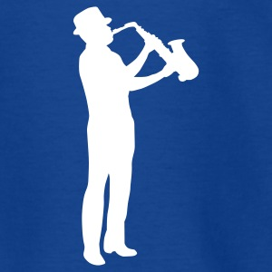 Royal blue saxophonman_1c Kids' Shirts - Teenage T-shirt