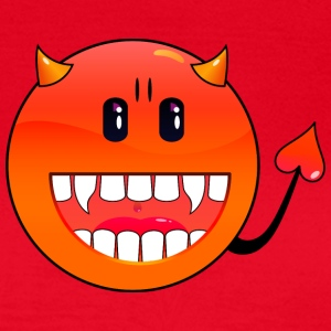 Rouge diable Emoticon / devil smiley (A1, DDP) T-shirts - T-shirt Femme