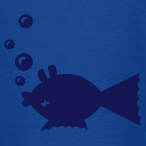 Royalblau Toter Fisch / fish belly up (1c) Kinder T-Shirts - Teenager T-Shirt