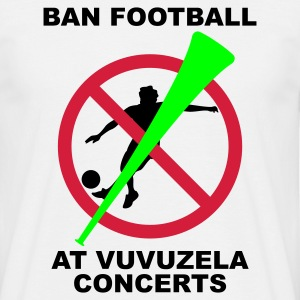 White Ban Football At Vuvuzela Concerts Men's T-Shirts - Men's T-Shirt