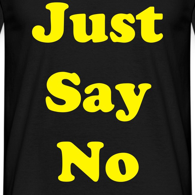 just say no black
