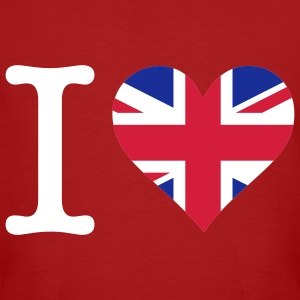 Mörkröd I Love UK Original (3c) T-shirts - Ekologisk T-shirt herr