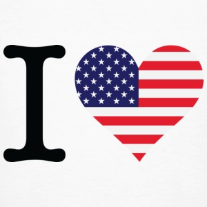 Wit I Love USA Original (DD) T-shirts - Mannen Bio-T-shirt