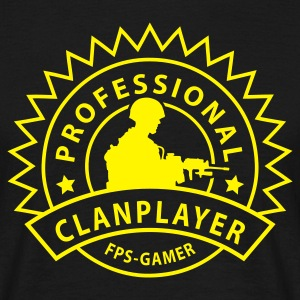 Svart prof_clanplayer_1 T-skjorter - T-skjorte for menn