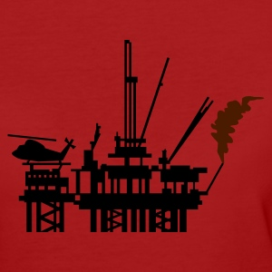 Lila Ölplattform / offshore oil rig (2c) T-Shirts - Frauen Bio-T-Shirt