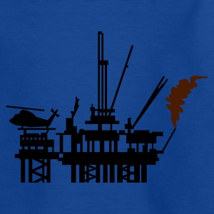 Royal blue Ölplattform / offshore oil rig (2c) Kids' Shirts - Teenage T-shirt