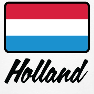 Vit Flag Holland (DD) T-shirts - Ekologisk T-shirt herr