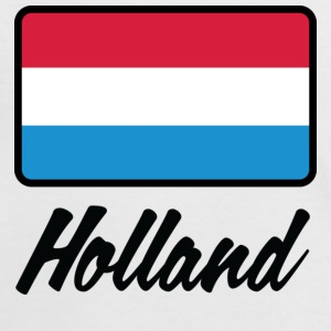 Wit/rood Flag Holland (DD) T-shirts - Vrouwen contrastshirt
