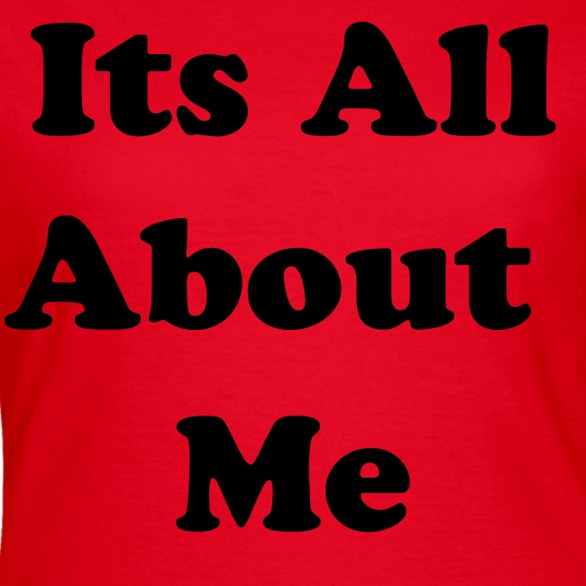 its all about me red