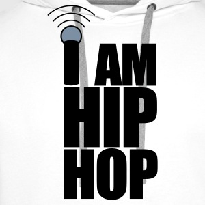 White I Am Hip Hop Hoodies & Sweatshirts - Men's Premium Hoodie