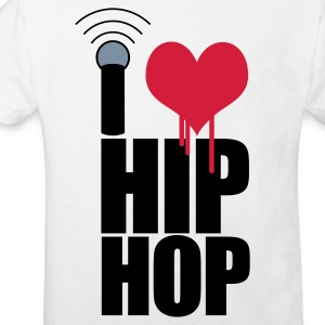 White I Love Hip Hop Kids' Shirts - Kids' Organic T-shirt