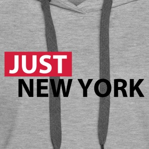 Heather grey Just New York Hoodies & Sweatshirts - Women's Premium Hoodie