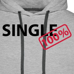 Heather grey Single 100% Hoodies & Sweatshirts - Men's Premium Hoodie