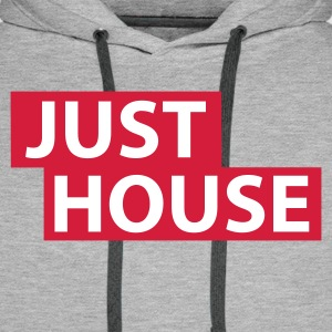 Heather grey Just House Hoodies & Sweatshirts - Men's Premium Hoodie