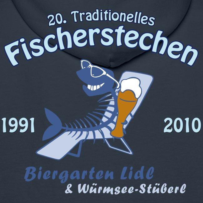 Biergarten Lidl 20. Fischerstechen 2010 - Jubiläumsshirt - Männer Kapuzenpullover - Digital Direktdruck