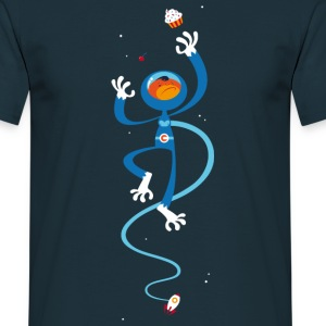 Marineblå space monkey T-shirts - Herre-T-shirt
