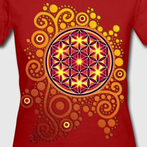 BLUME DES LEBENS / flower of life POWER | Frauenshirt organic - Frauen Bio-T-Shirt