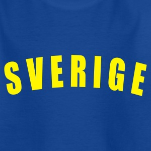 Royalblau SVERIGE Sweden Schweden football Fußball fútbol Länder countries fotboll WM - eushirt.com Kinder T-Shirts - Teenager T-Shirt