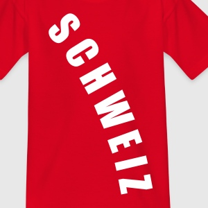 Rot SCHWEIZ Svizzera Svizra Suisse Switzerland football Fußball WM Sports Länder countries - eushirt.com Kinder T-Shirts - Teenager T-Shirt