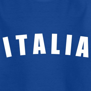 Royalblau ITALIA Italy Italien calcio football Fußball Länder countries WM cup Sport sports - eushirt.com Kinder T-Shirts - Teenager T-Shirt