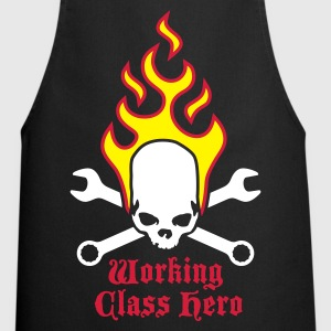 fire_skull_working_class_hero_b_3c  Aprons - Cooking Apron