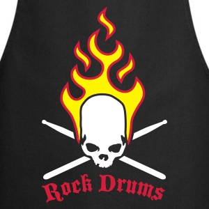 fire_skull_drumsticks_d_3c  Aprons - Cooking Apron