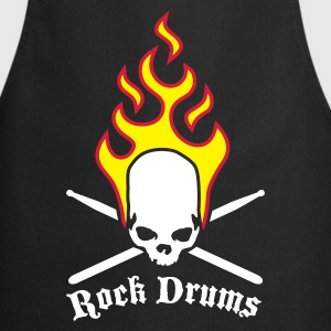 fire_skull_drumsticks_c_3c  Aprons - Cooking Apron
