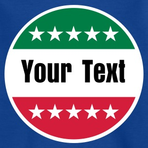 Royalblau Italia / Italy / Italien / Your Text / Dein Text / Flaggen / flags / Länder / countries - eushirt.com Kinder T-Shirts - Teenager T-Shirt