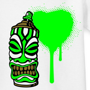 Weiß SPRAY A HEART TIKI pt.2 (pos) by toneyshirts.de Kinder T-Shirts - Teenager T-Shirt