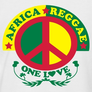 Sable/charbon africa reggae one l♥ve T-shirts - T-shirt baseball manches courtes Homme