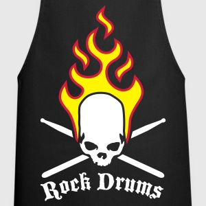 Black fire_skull_drumsticks_c_3c  Aprons - Cooking Apron