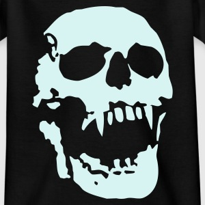 Black scream_skull_1c Kids' Shirts - Teenage T-shirt