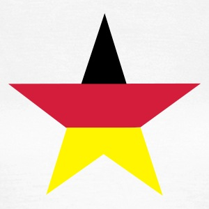 Vit germany_star T-shirts - Vrouwen T-shirt