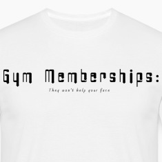 White Gym Membership Men's T-Shirts